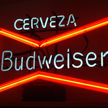 My Bud  neon - Breweriana