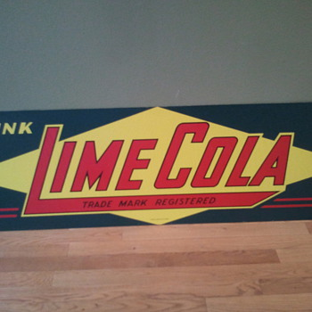 1940s LIME COLA SIGN - Signs