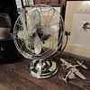 late 1940s Air Beam 3 speed chrome fan