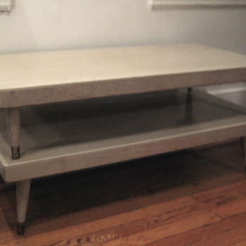 mid-century light blond oak coffee table - would love info! - Mid-Century Modern