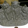 Figural Kittens Cast Iron Spoon Rest Bradley Iron Works Milw. 