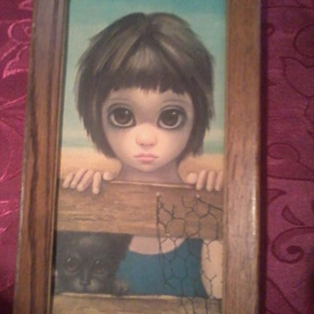 1962 Margaret Keane big eye portrait