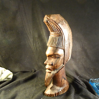 Ironwood carving Large African Bust