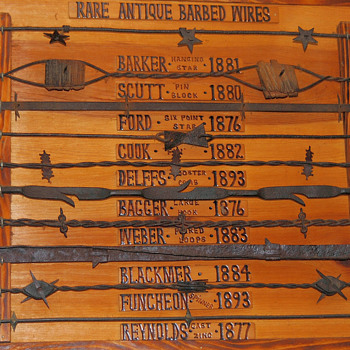 Barbed wire plaques 1 and 2