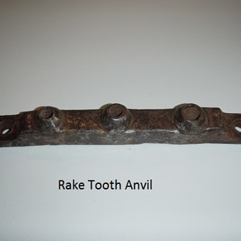 Rake Tooth Anvil