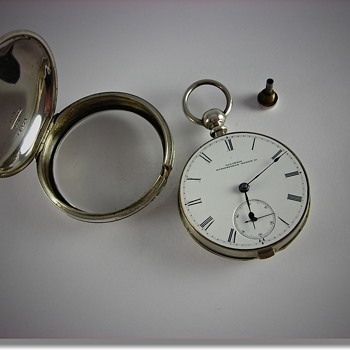 Illinois Bunn With Hidden Key Coin Silver Pair Case  - Pocket Watches