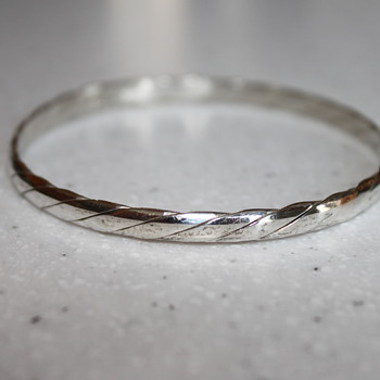 Sterling Silver Bangle - Fine Jewelry