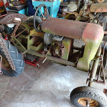 3 Copar Panzer Tractors two. 3 Wheeled & a 4 Wheeled one. & 1 Being restored - Tractors
