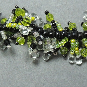 Brace with Glass Beads marked 925 - Costume Jewelry
