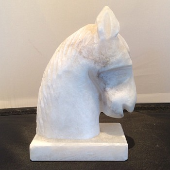 Marble sculpture of horse head