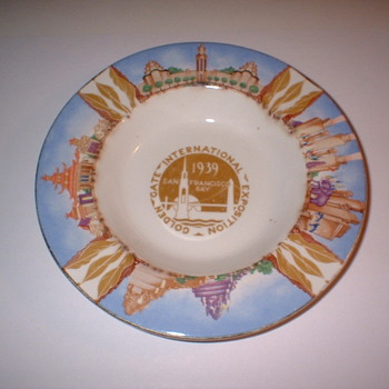 1939 Golden Gate Expostion Ashtray - Tobacciana