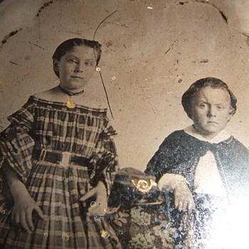 Civil War mourning tintype