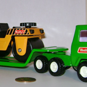 Vintage Buddy L Truck, Trailer and Roller - Toys