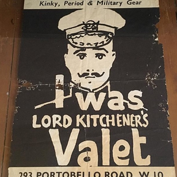 I Was Lord Kitcheners Valet Fly Shop Poster Original 1964