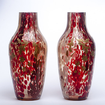 Ernest-Baptiste Léveillé pair - Art Glass