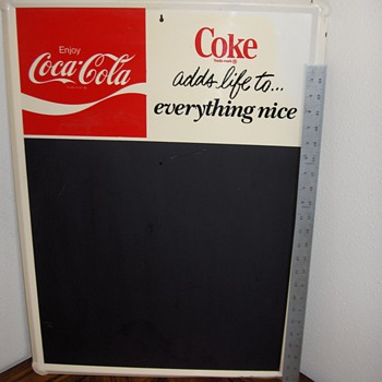 Coca-Cola Chalkboard Menu - Coca-Cola