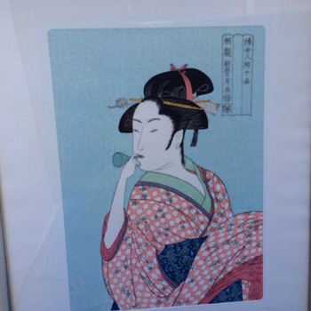 Antique Japanese print - Asian