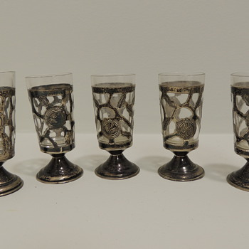 Sterling Silver Shot Glasses?  Mexico
