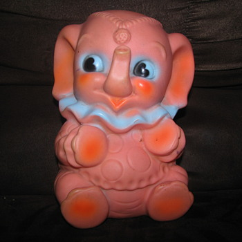 Vintage rubber elephant toy