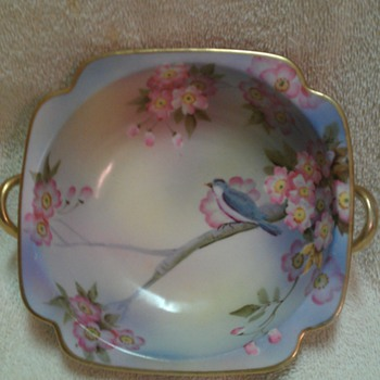 Bird and Cherry bloosoms bowl - China and Dinnerware