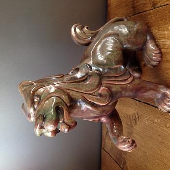 Michael Andersen? C.V. KJAER KOBENHAVN Danish Pottery Fu Dog  - Pottery
