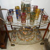 Culver Glass on Bar Cart
