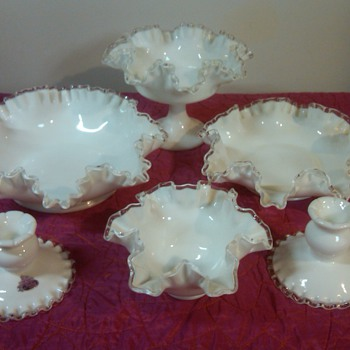 Small Collection of Fenton Silver crest pieces