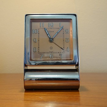 LE COULTRE FOLDING ALARM CLOCK MANUAL WINDUP