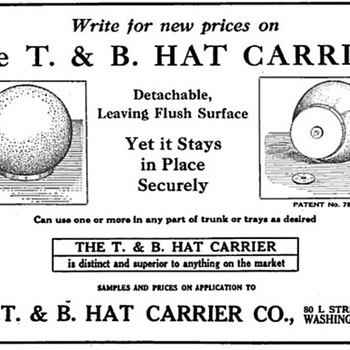 T & B Hat Carrier Advertisement