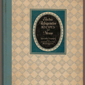 1929 - Electric Refrigerator Recipes and Menus - Books