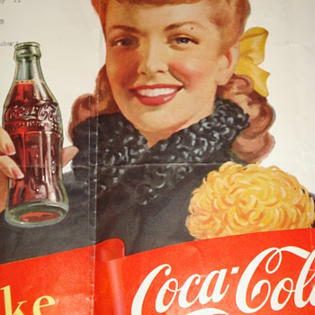 THIS A COCA-COLA POSTER/WITH 1949 FOOTBALL TEAM MEMBERS - Coca-Cola
