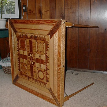 Inlaid Wood Game Table