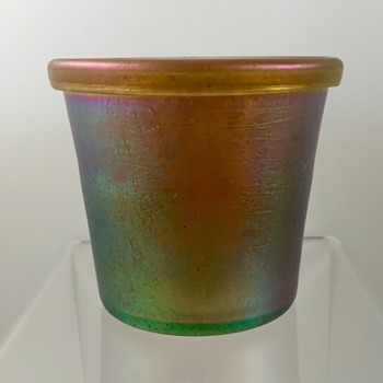 Loetz Candia Silberiris Beaker made for E. Bakalowits Söhne, PN 85/5177, ca. 1903 - Art Glass