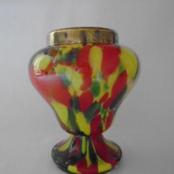 Art Deco Welz Rose Bowl - Art Glass