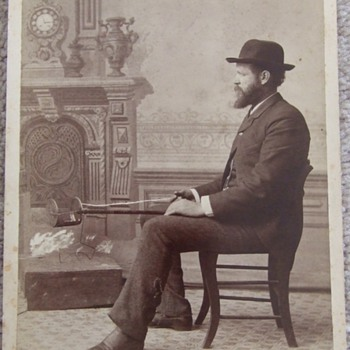 Cabinet card of Inventor and his Corn Popper