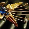 Space Invaders Flower brooch