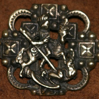 "Sterling Guglielmo CINI ""styled"" brooch, St. George slays the dragon - Costume Jewelry"