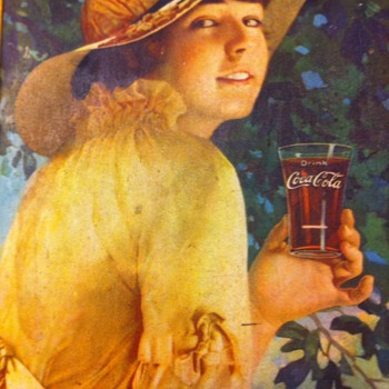 1916 Coca Cola Elaine serving tray