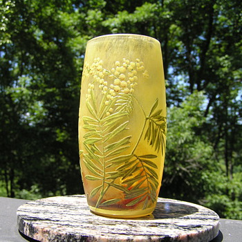 French Daum Nancy Beaker Vase - Art Glass