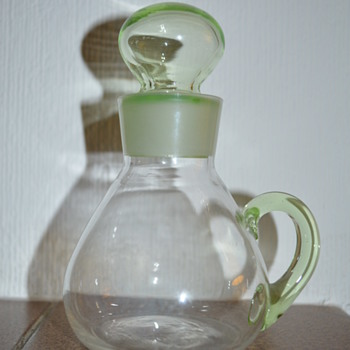Small uranium glass jug