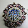 Vermeil Micro Mosaic little brooch