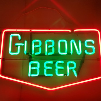 Vintage Gibbons neon