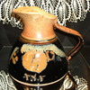 Black and Tan/Rust Pottery Pitcher