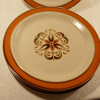 Mid Century Made in Japan Stoneware Plates Makers Mark