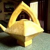 Large Abstract Mustard Yellow Teapot-Watering Pot/Unknown Maker and Age