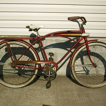 Old Sears tank style bicycle. - Outdoor Sports