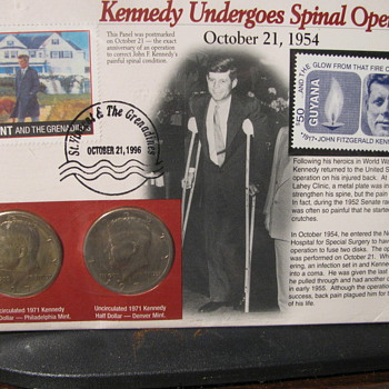 Kennedy First day cover and coins - Stamps