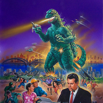 Godzilla King of the Monsters Original Video and LaserDisc Cover Art