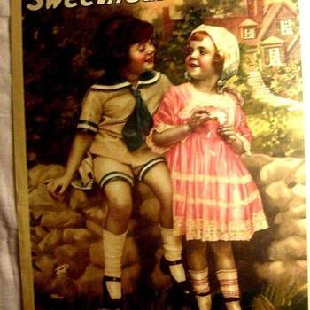 """SHEET MUSIC, 1919 """"SWEETHEARTS"""" ARTWORK AND COMPOSITION BY ALICE WRIGHT - Music Memorabilia"""