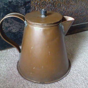 Large Civil War Era Copper Coffee Pot